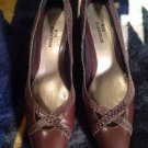 Ros Hommerson Brown Fine Leather Women's Pumps Classics Eelskin SZ 6 N