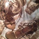 UNLISTED BY KENNETH COLE NIGHT TRAIN WEDGE HEEL SANDALS WOMEN'S BRONZE SHOES 9M
