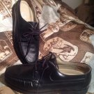STUART MC GUIRE SPRING STEP CUSHION men's BLACK LOAFERS LACE UP SHOES SZ 10.5EW