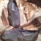 MERRELL BARRADO STONE BLUE/BROWN NUBUCK SUEDE ZIP SPORT LOAFERS SHOES Sz. 7.5M