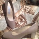 BANDOLINO WOMEN'S METALLIC GOLD HEEL PUMPS MADE IN SPAIN CHUNKY HEELS SIZE 8.5N