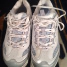 SKECHERS Shape Ups Women's Fitness Sneaker Shoes Sz 9.5 White/Silver/Blue Bling