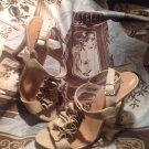 PAPRIKA Women's Strappy CLASSY Heel CREME Sandals Open Toe Shoes Sz 7M MRSP $69