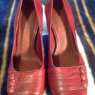 GIANNI BINI Women's Pumps Classic HEELS Sz 7M Maroon LEATHER Square Toe MRSP $99