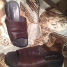 BARE TRAPS CAYMEN LEATHER SANDALS WOMEN'S SZ 9M SLIP-ONS BROWN SLIDES MRSP $69