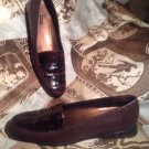TROTTERS 8.5SS DARK BROWN CROC TOP LEATHER SIDE WOMEN'S SHOES LOAFERS MRSP $109