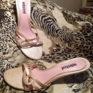 WOMEN'S KENNETH COLE UNLISTED SIZE 9.5M BEIGE CRISS STRAP SANDALS HEELS MRSP $69