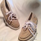 Converse ONE Star Canvas Boat Deck Shoes SZ 9 MEN'S Light Gray Tan Excellent