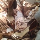BANDOLINO  ALAYNAU4 BROWN & GOLD MULTI COLOR LEATHER POINTED TOE PUMPS SZ 6.5M