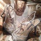 Caparros Mela Women's US 7M Silver Sandals FORMAL WEDDING PROM PRETTY MRSP $88
