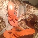 WOMEN'S MADELINE MISTY SZ 6M KITTEN HEEL THONG SANDALS PEACH CORAL MRSP $76