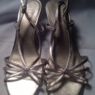 LAUREN BY RALPH LAUREN Womens Gold Evening Sandals Shoes Slingbacks 9M MRSP $99