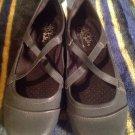 Lifestride Black Defend Slip On Criss Cross Womens Casual Shoes Flat Heel 6.5M