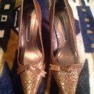 Laundry By Shelli Segal Women's Brown Snakeskin Pumps Shoes SZ 6.5M MRSP $76