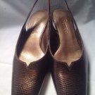 J. Renee Womens Shoes Heels Pumps  Sz 6.5M Brown Slingbacks Textured MRSP $78