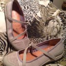 WOMENS SKECHERS GRAY SIGNATURE MARY JANES W/ CRIS CROSS STRAPS SZ 7M MRSP $59