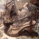 ANN MARINO Women's SZ 7.5M Dressy High Heel Stiletto BROWN & TAUPE Sandals CUTE