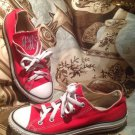 Converse CHUCK TAYLOR ALL STAR OXFORDS LOW YOUTH RED SIZE 3M EMBROIDERED aRg