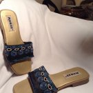 JUBILEE  Womens Black Beaded Slide Sandals Shoes 8.5M