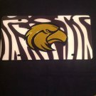 USM GOLDEN EAGLES MIRRORED INLAID ACRYLIC AUTO LICENSE PLATE CAR TAG ZEBRA PRINT