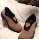 Mens Faded Glory Genuine Suede Slip On Loafer Mocs SZ 10M BEIGE