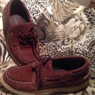 Sperry Intrepid Tobacco Brown Leather School Youth Kids 2M UNISEX  Boys Laces