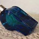 Collectible Cobalt Blue Glass Policeman / Law officer Vintage Whistle Bottle Avo