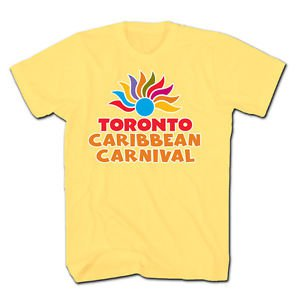 TORONTO CARIBBEAN CARNIVAL T-SHIRT,OFFICIAL MERCHANDISE,NEW,YELLOW,SIZE S-XXL,NR