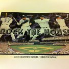 MLB WALKER, BICHETTE + MINI POSTER, 4 X 6 INCHES, BASEBALL, COLORADO ROCKIES,NEW