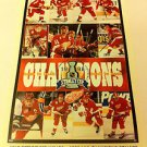 NHL '98 STANLEY CUP CHAMPS MINI POSTER 4 X 6 INCHES,HOCKEY,DETROIT RED WINGS,NEW