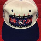 MLB 1993 AMERICAN LEAGUE CHAMPS ADJUSTABLE HAT, TORONTO BLUE JAYS, NEW, VINTAGE