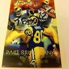 NFL PACE,BRUCE,BANKS MINI POSTER, 4 X 6 INCHES, FOOTBALL, ST. LOUIS RAMS, NEW
