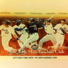 MLB OLERUD, ORDONEZ + MINI POSTER, 4 X 6 INCHES, BASEBALL, NEW YORK METS,NEW