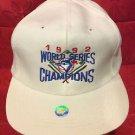 MLB 1992 WORLD SERIES CHAMPS ADJUSTABLE HAT, TORONTO BLUE JAYS, NEW,VINTAGE,WHT