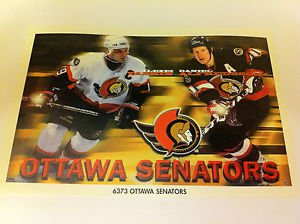 NHL YASHIN, ALFREDSSON MINI POSTER, 4 X 6 INCHES, HOCKEY, OTTAWA SENATORS, NEW