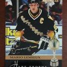 NHL MARIO LEMIEUX 1993-94 SCORE PINNACLE HART TROPHY CARD #221, NEW, NM-MINT