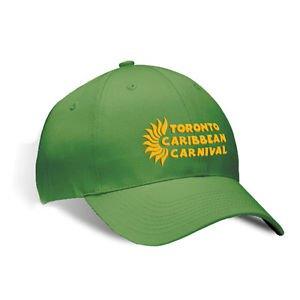 TORONTO CARIBBEAN CARNIVAL BRUSHED COTTON HAT GREEN HORIZONTAL LOGO, NEW