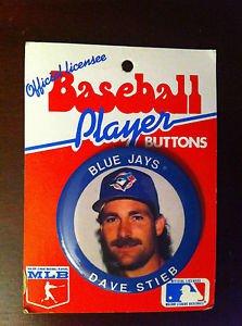 TORONTO BLUE JAYS, DAVE STIEB PLAYER BUTTON, 1991, MLB, BASEBALL, NEW NR