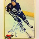 NHL TODD GILL AUTOGRAPHED 1993-94 TOPPS PREMIER CARD #4 TORONTO MAPLE LEAFS NRMT
