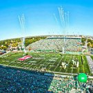 CFL Saskatchewan Roughriders 14x28 Art Canvas - Mosaic Stadium