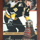 NHL MARIO LEMIEUX 1993-94 SCORE PINNACLE ART ROSS TROPHY CARD #230, NEW, NM-MINT