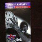 TORONTO RAPTORS 1ST SEASON,1995-96 SCHEDULE WITH CORPORATE SEAL,RARE,NR,NBA