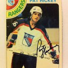 NHL PAT HICKEY AUTOGRAPHED 1978-79 OPC O-PEE-CHEE CARD #112 NEW YORK RANGERS EX