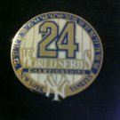 MLB NEW YORK YANKEES 1998 WORLD SERIES CHAMPIONSHIP LAPEL PIN, ROUND