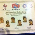 NFL QB CLUB PINHEADS LAPEL PINS,AIKMAN,YOUNG,MANNING,MARINO,FAVRE,BLEDSOE,NR,NEW