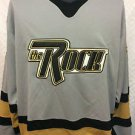 WWF WWE THE ROCK HOCKEY JERSEY,OFFICIAL, VINTAGE, GREY, SIZE LARGE, NEW, NR