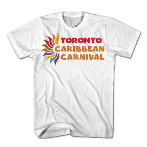 TORONTO CARIBBEAN CARNIVAL T-SHIRT,OFFICIAL MERCHANDISE,WHITE,SIZE XLARGE,H-LOGO