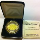 1996 SUPERBOWL XXX LIMITED EDITION SILVER/GOLD COIN ,NFL,NR 136/1995