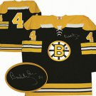 NHL Bobby Orr Autographed Boston Bruins Black Replica Jersey