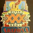 NFL SUPER BOWL XXX LAPEL PIN, CIRCA 1996 VINTAGE, ARIZONA, COWBOYS, STEELERS